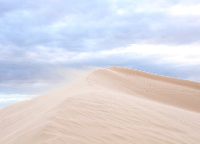 The dune to the left